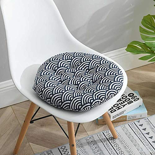 LIMMC 1/4PCS Nordic Print Round Chair Cushion Cotton Breathable Soft Padded Patio Office Decor Cushions Sofa Pillow Buttocks 40 * 40cm,O,4PCS