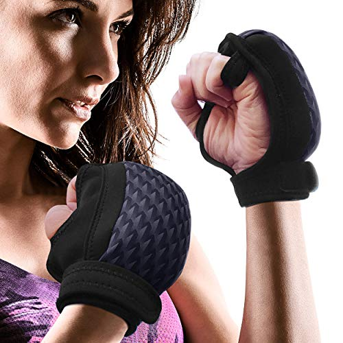 Empower Weighted Gloves for Women, Kickboxing, MMA, 4 Lb Set (2 Pounds Each Glove), Geo Black