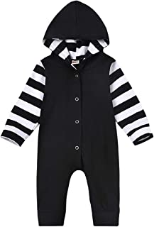 bilison Newborn Baby Boys Clothes Cute Strips Long Sleeve Romper Jumpsuit One Piece Overall Outfits