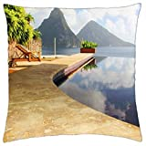 Beautiful View - St Lucia Paradise Island Caribbean West Indies - Throw Pillow Cover Case (18