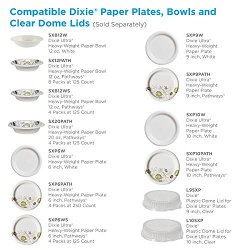 Dixie Ultra Heavy-Weight 12 oz. Paper Bowl by GP PRO (Georgia-Pacific), Pathways, SXB12WS, (125 Bowls Per Pack, 4 Packs Per Case)