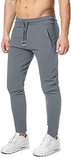 Men's Jogging Pants Cotton Jogger Sweatpants Lightweight Running Gym Athletic Pants with Zipper Pockets