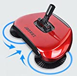Scopa per uso domestico - 360Rotary - pressione manuale, scopa senza elettricità per ca...