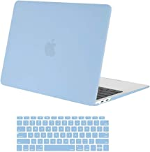 MOSISO MacBook Air 13 inch Case 2019 2018 Release A1932 with Retina Display, Plastic Hard Shell Case & Keyboard Cover Skin Only Compatible with MacBook Air 13 with Touch ID, Airy Blue