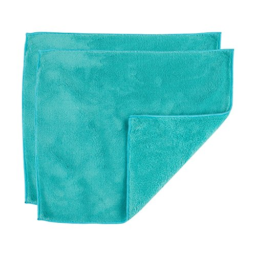 "Casabella Microfiber 12"" x 14"" Cloth, Pack of 2, 1 EA, Blue Dusting, 2 Count"