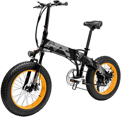 Bicicletas Eléctricas, Actualizar 48V 1000W Montaña bicicleta eléctrica, 20 pulgadas Fat Tire E-Bici (velocidad 35 km / h) Suspensión del crucero de Mens Sports Bike MTB completa batería de litio Dirt