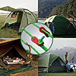 BHGWR 8 Pack Reflective Tent Guy Ropes, Light-Weight Tent Guide Lines Cord with Aluminum Tensioners Adjuster, 13 Feet…