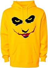 WearIndia Unisex Joker Face Digital Printed Grey Color Cotton Hoodies with Kangaroo Pocket