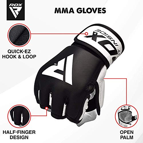 RDX Rindsleder MMA Handschuhe UFC Kampfsport Sparring Freefight Sandsack Trainingshandschuhe Abbildung 3