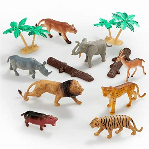 ANIMAL WORLD – Animaux de la Jungle – Set de Mini Figurines
