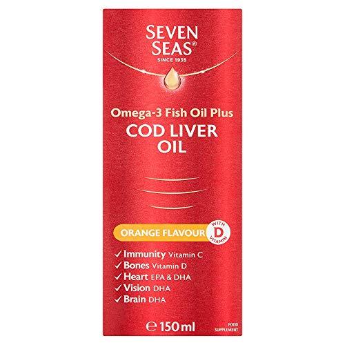 Seven Seas Omega-3 Fish Oil Plus Cod Liver Oil Orange Liquid 150ml