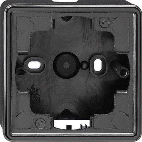 Preisvergleich Produktbild Gira Aufputzgehäuse 006147 1fach S-Color schwarz