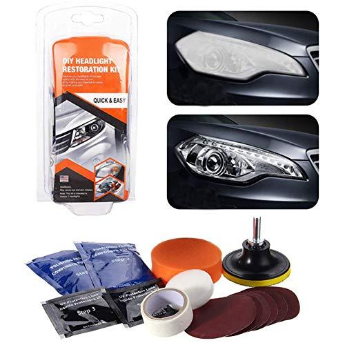 belupai kit de Restauration de Phare de réparations terne Restaurateur de lentilles de Phare pour Voitures vélos Motos