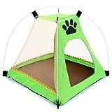 SMALLLEE LUCKY STORE Dog Sun Shelter Tent House Perros Impermeables Gatos Tienda de campaña Perreras Plegables Interior y Exterior de la Playa Camping Picnic Verde