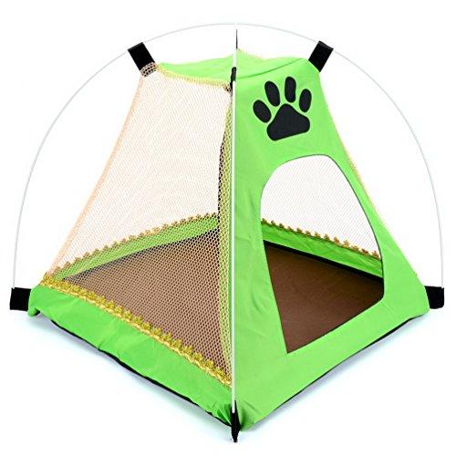 Smalllee _ Lucky _ Ranger 1 MEDAILLE Abri Soleil Tente Chien Chat Tente de lit pliable Chenils Idéal pour intérieur et extérieur Plage Camping pique-nique