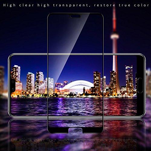 SGIN Huawei P20 Panzerglas Schutzfolie, [2 Stück] Premium Gehärtetem Glas Displayschutzfolie, Anti-Fingerabdruck, Blasenfrei, Anti-Kratzer, 9H Härtegrad, für Huawei P20 - Schwarz - 4