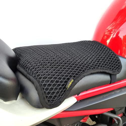 Cekell Coprisedile estivo per moto ad asciugatura rapida, cuscino per sedile moto traspirante universale, coprisedile protettivo in rete antiscivolo per moto per sole