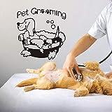 yaonuli Calcomanía de Belleza Perro Tienda de Mascotas Etiqueta de la Pared Vinilo calcomanía Mural clínica de Mascotas Etiqueta de la Pared 85X48 cm