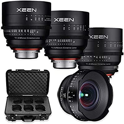 Rokinon's Xeen Cine Lens Bundle Including Xeen 16mm T2.6 Cine Lens, Xeen 35mm, 50mm, 85mm T1.5 Professional Cine Lenses for PL Mount Cameras by Rokinon by Rokinon