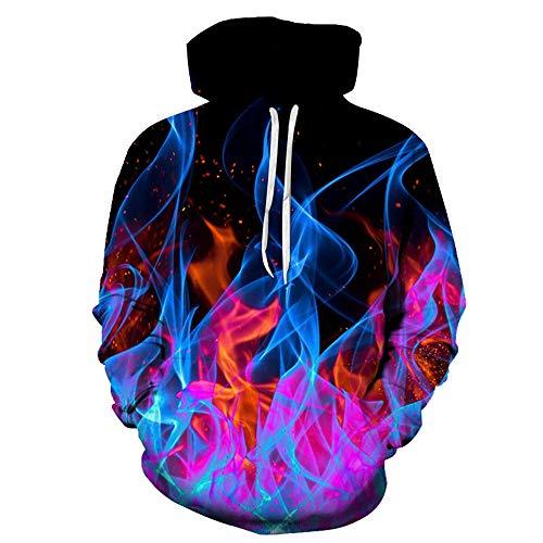 x8jdieu3 Herbst und Winter Sweatshirt 3D Quadrat Digitaldruck Pullover Herrenhemd Größe lose Paar Hoodie Pullover