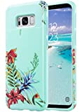 ULAK S8 Plus Case, Galaxy S8 Plus Case, Hybrid Case for Samsung Galaxy S8 Plus 2017 Release 2-Piece Dual Layer Style Hard Cover (Mint+Tropical Flower)