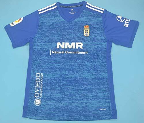 ADI Oviedo Jersey Camiseta DE FÚTBOL 2020-2021 League Patch Blue Color (S)