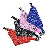 Ciujoy Dog Bandana Collar 4 Pcs Pet Boho Neckerchief Strap Neck Scarf Triangle Towels Saliva Towel Fashion Mandala Flroal Pattern Accessories for Small Puppies Cats - S