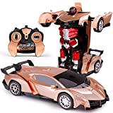 Niños coche teledirigido Deformación del robot de inducción eléctrica de carga Racing Boy inalámbrica de coches de juguete RC One-click presente Deformación Autobots Hijos Adultos El mejor cumpleaños