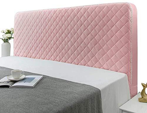 SetSailW Fundas para Cabeceros Cabecera Individual/Doble/King, Cubierta Protectora para La Cabeza de La Cama Estiramiento Antideslizante Cubierta del Respaldo a Prueba de Polvo,Pink-210x70cm