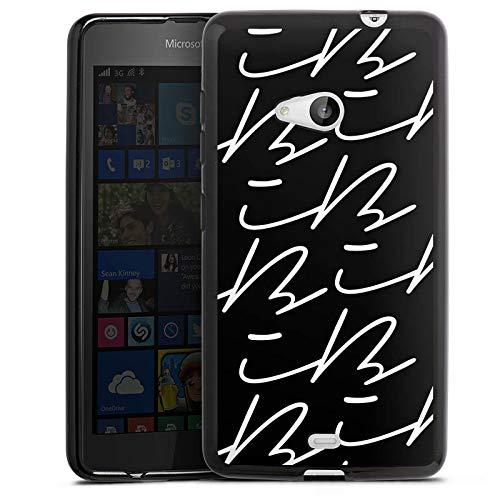 DeinDesign Silikon Hülle kompatibel mit Microsoft Lumia 535 Dual SIM Hülle schwarz Handyhülle Logo YouTube iBlali