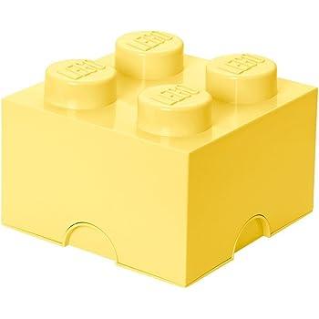 LEGO - Caja de almacenaje 4, color amarillo claro: Room Copenhagen: Amazon.es: Juguetes y juegos