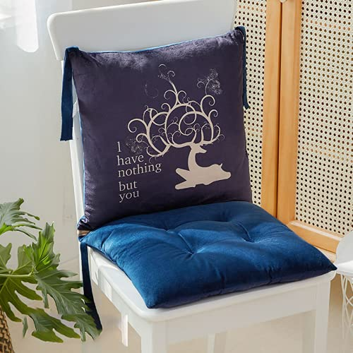 LSSFBR Tumbona Cushion-1 Set de Cushion-Impermeable Transpirable y Agradable a la Piel Silla de Jardín Sillón Exterior / Interior - Púrpura 40cm X40cm X46cm