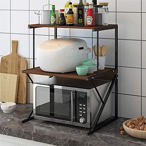 Mikrowellenherd-Rack Küche Rack Gewürzregal Mikrowelle Speicher Desktop-Mikrowelle Regal Mikrowelle Ofen Rack für Küche Badezimmer (Color : B, Size : 37 x 54 x 69cm)