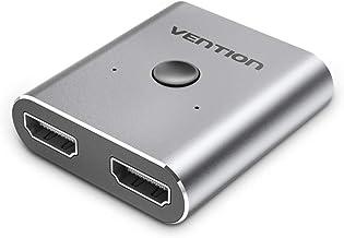 VENTION HDMI Switch 4K HDMI Splitter Aluminum Bi-Directional HDMI Switcher 2 Input 1 Output, HDMI Splitter 2 x 1/1 x 2. No...