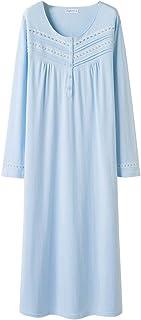 قمصان نوم نسائية من KeyOcean مصنوعة من القطن الناعم خفيف الوزن ملابس نوم مريحة للصيف