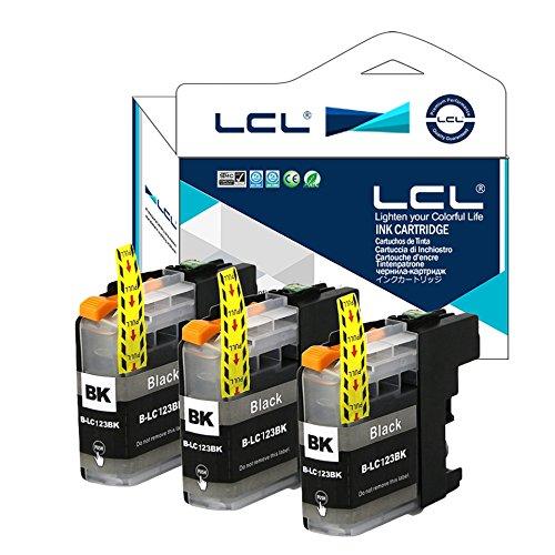 LCL Kompatibel Tintenpatrone LC121 LC123 LC121BK LC123BK (3 Schwarz) Ersatz für Brother MFC-J4410DW J4510DW J4610DW J4710DW J470DW J6920DW J870DW J245 J650DW J6720DW