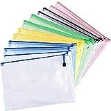 MNEUSHOP 10 Stück 12 Stück A4 A3 Dokument Papier Datei Ordner Reißverschluss Transparent...
