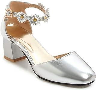 BalaMasa Womens ASL06516 Pu Block Heels