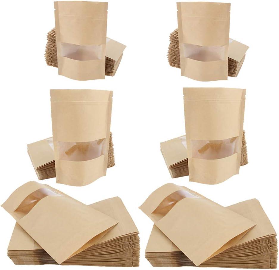 Bonarty 300 Award-winning store Piece Milwaukee Mall Kraft Self Paper Bags