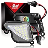 WinPower LED unter dem Seitenspiegel Pfützenlicht für Sk-oda Superb 2 2008-2020 Octavia 3 5E 1Z 2004-2020 Fehlerfrei 6000K Weiß, 2 Stück