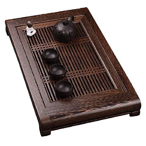 Sale!! CJVJKN Kung Fu Tea Tray, Solid Wood Tea Tray Japanese Square Tea Tray Zen Desktop Tea Table S...
