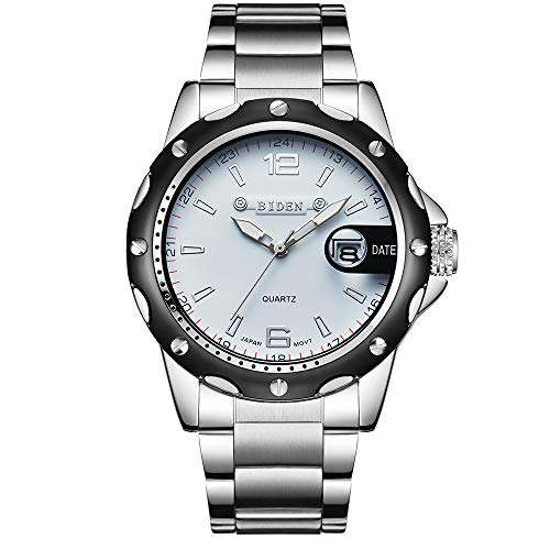 Orologi da uomo, Biden aviatore da uomo unico orologio da polso, in acciaio INOX orologio maschio militare orologio sportivo