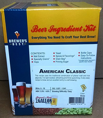 Brewer's Best One Gallon Home Brew Beer Ingredient Kit (American Classic) American Classic Wine Set