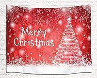 LB クリスマス タペストリー クリスマスツリー 飾りの1 おしゃれ壁掛け 装飾布 欧米風 インテリア 多機能 リビング パーティー用 イベント用 お店 個性ギフト 人気 お祝い 150x100cm …
