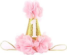 Infant Baby 1st Birthday Party Hat Princess Hairband Baby Girl Flower Delicate Hair Accessories Crown Party Hats