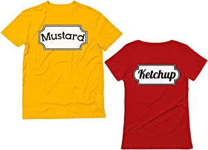 Ketchup & Mustard Matching Couple Halloween Set Easy Costume T-Shirts