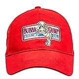 I3C Bubba Gump Shrimp Co. Gorra de Béisbelo, Sombrero Snapback Ajustable de Forrest Gump, Gorra Bordada Roja Unisex para Hombre y Mujer