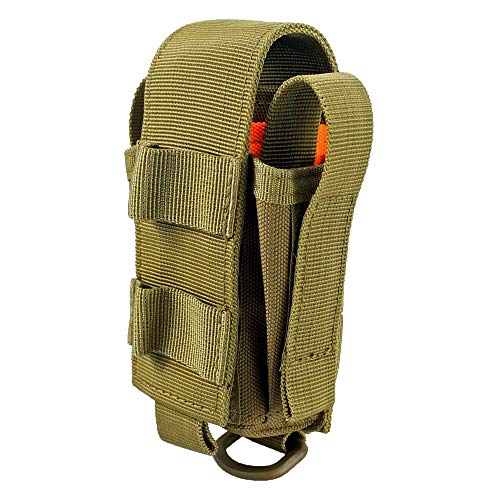 Depring Tool Holster Sheath Universal Multi Pockets Tool Organizer Heavy Duty Construction MOLLE Pouch (Tan)