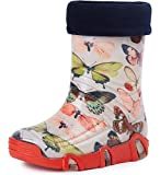 Ladeheid Botas de Agua Zapatos de Seguridad Calzado Unisex Niños Niñas Swk 28 (Mariposa, 21/22 EU)