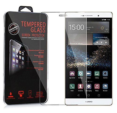 Cadorabo Película Protectora para Huawei P8 MAX en Transparencia ELEVADA - Vidrio Templado (Tempered) Cristal Antibalas Compatible 3D con Dureza 9H